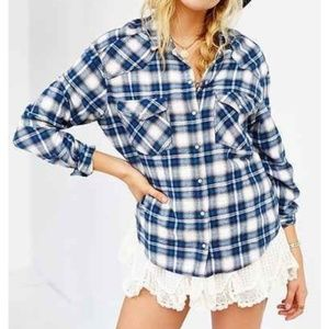 Urban Outfitters | BDG Plaid Lace Petticoat Shirt